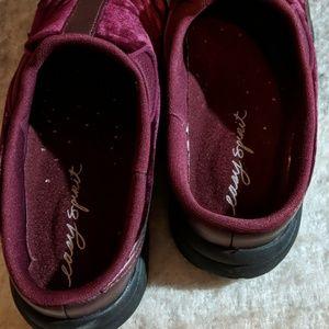 Easy Spirit Shoes - Easy Spirit burgundy velvet slide 6.5
